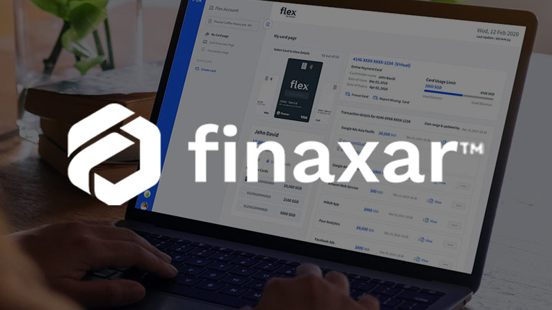 Finaxar app on computer screen.