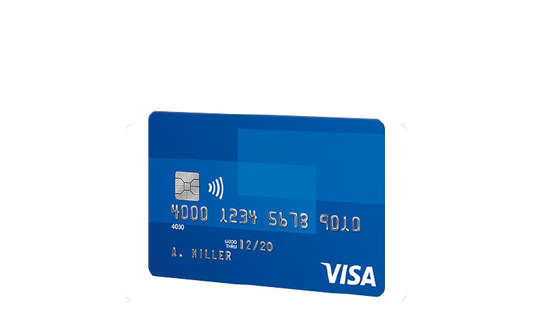 Visa Contactless card.