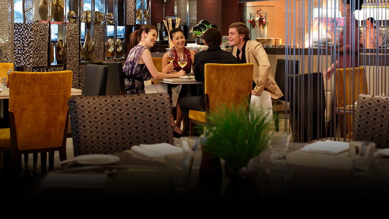 four person in a luxury restaurant